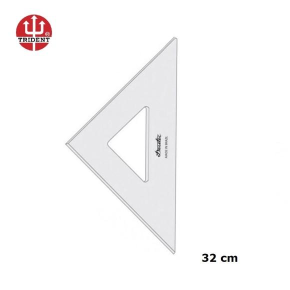 ESQUADRO S/ ESCALA 45°/45°/90° (REF.2532) 32CM - DESETEC TRIDENT
