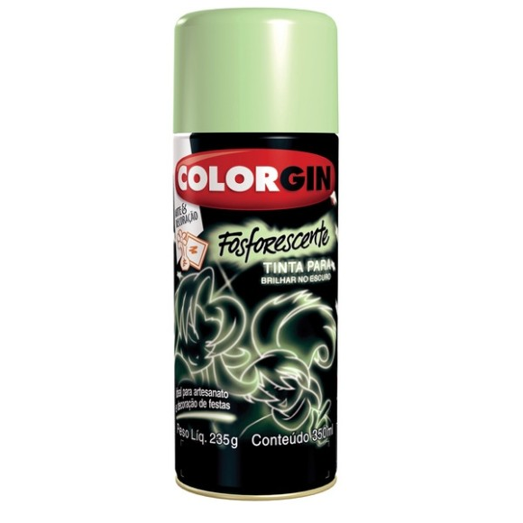 TINTA SPRAY FOSFORECENTE 350ML COLORGIN