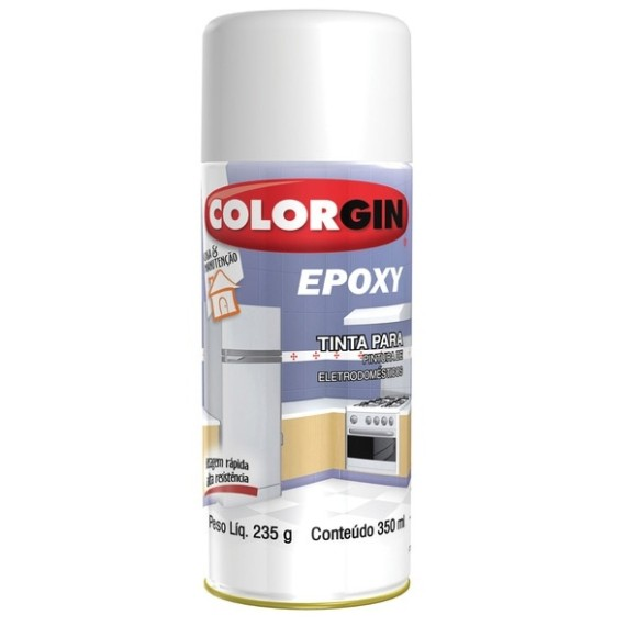 TINTA SPRAY EPOXY BRANCO 350ML COLORGIN