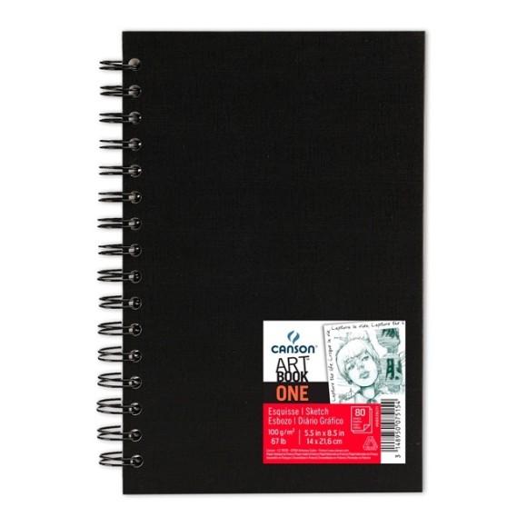 ART BOOK ONE CANSON ESPIRAL  A5+ 100G/M² - 80 FLS