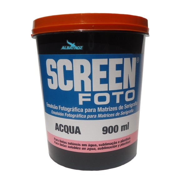 EMULSÃO SCREEN FOTO ACQUA ROSA 900ML - AGABÊ