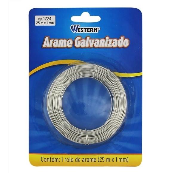 ARAME GALVANIZADO 25M X 1MM -  WESTERN