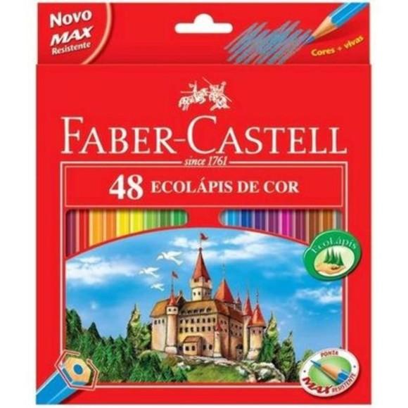 LÁPIS DE COR ECOLÁPIS 48 CORES FABER-CASTELL