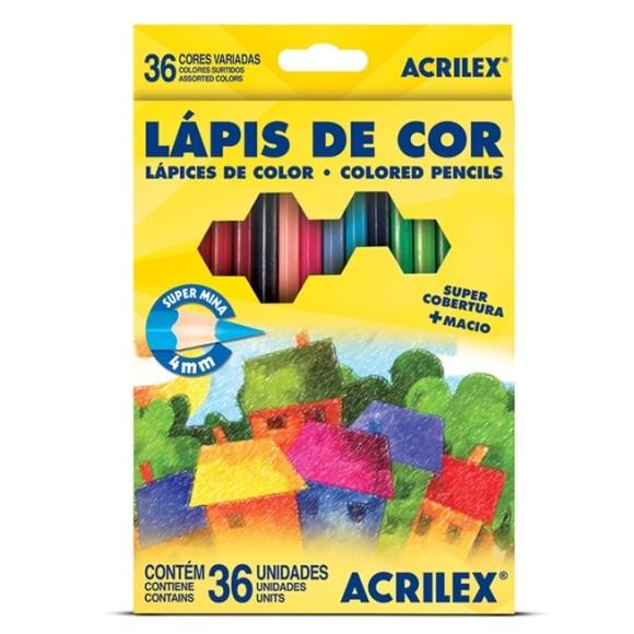LÁPIS DE COR 36 CORES ACRILEX