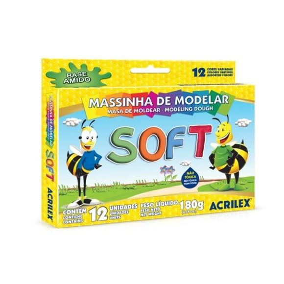 MASSINHA DE MODELAR SOFT 12 CORES - ACRILEX