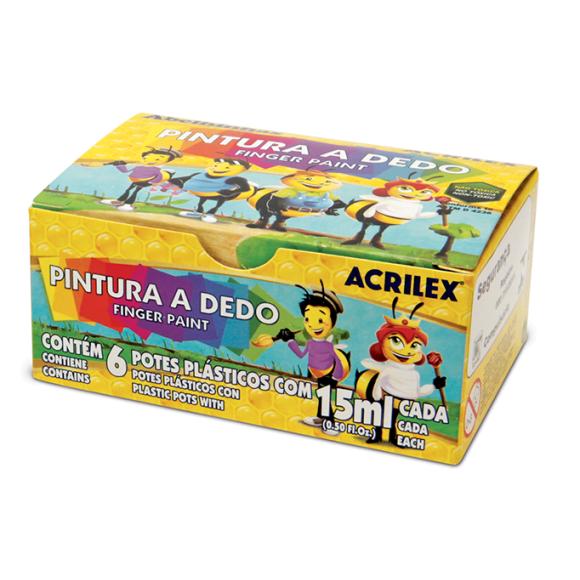 PINTURA A DEDO 6 CORES - ACRILEX