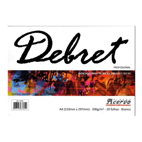 BLOCO PAPEL DEBRET A4 200G/M² BRANCO 20 FOLHAS - ACERVO