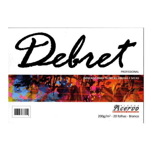 BLOCO PAPEL DEBRET A3 200G/M² BRANCO 20 FOLHAS - ACERVO