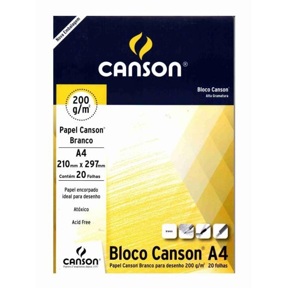 BLOCO DESENHO 200 A4 BRANCO 200G/M² CANSON