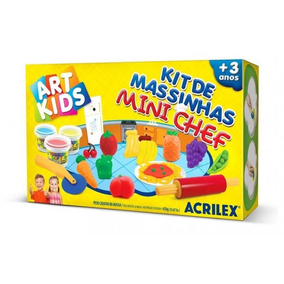 KIT DE MASSINHAS MINI CHEF - ART KIDS - ACRILEX