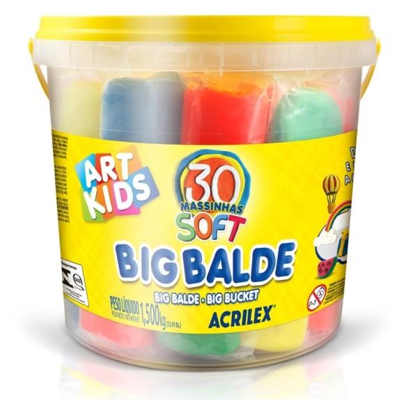BIG BALDE DE MASSINHAS 1,5KG - ART KIDS - ACRILEX