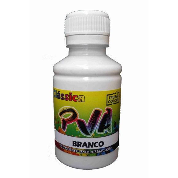 TINTA PVA FOSCA BRANCA 100ML - TRUE COLORS