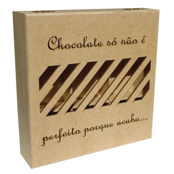 CAIXA CHOCOLATE VAZADA LASER - MDF