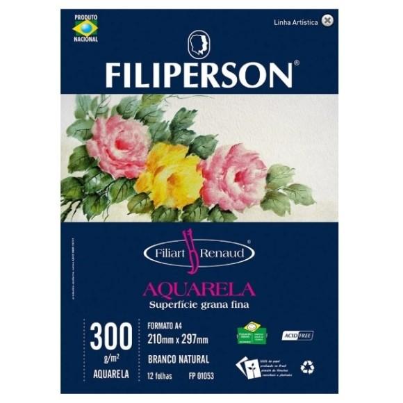 BLOCO AQUARELA FILIART RENAUD A4 300G - FILIPERSON