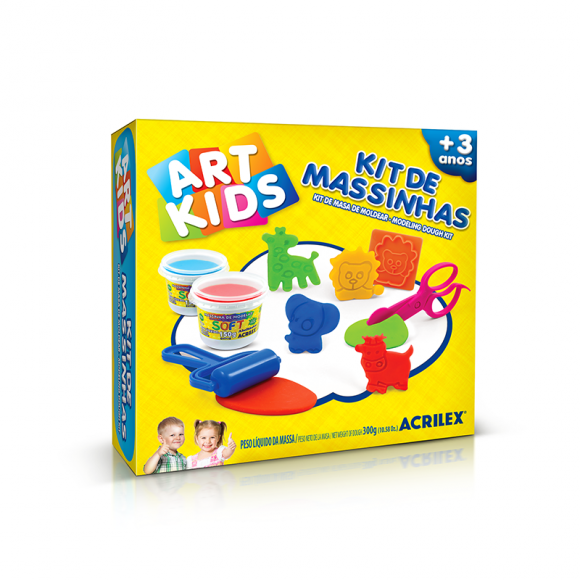KIT DE MASSINHAS 7 - ART KIDS - ACRILEX