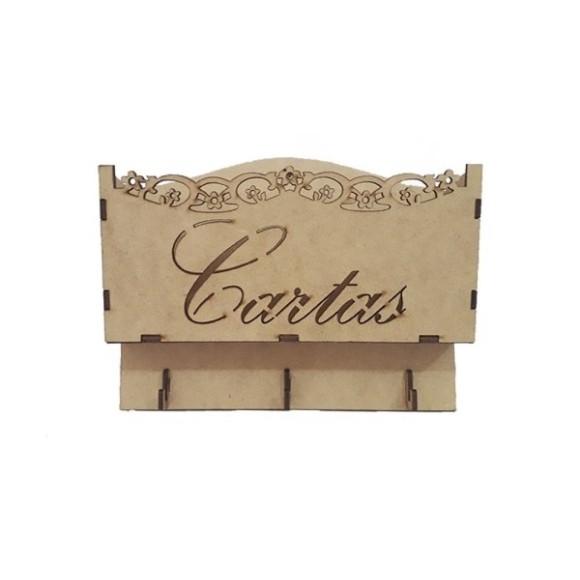 PORTA CARTAS E CHAVES 3 PINOS LASER - MDF