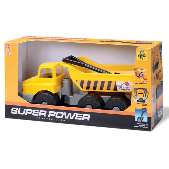 CAMINHÃO SUPER POWER CONSTRUCTION BASCULANTE - SAMBA TOYS
