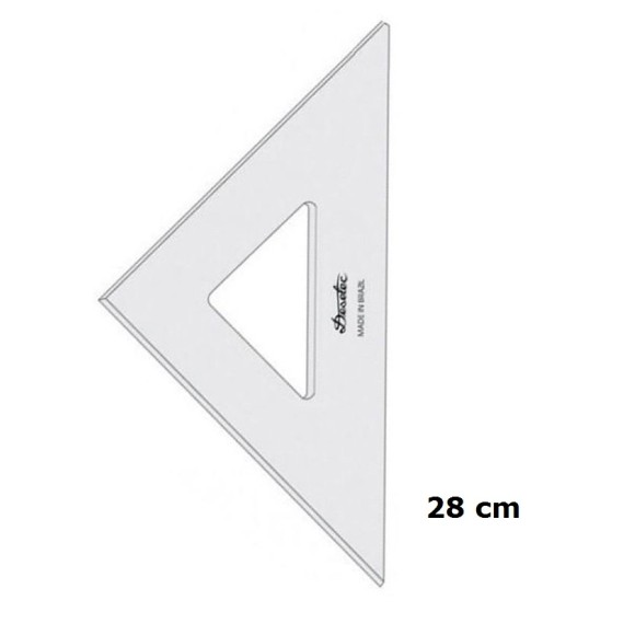 ESQUADRO S/ ESCALA 45°/45°/90° (REF.2528) 28CM - DESETEC TRIDENT