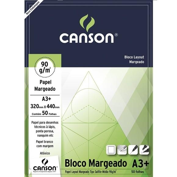 BLOCO LAYOUT 90G A3+ MARGEADO CANSON