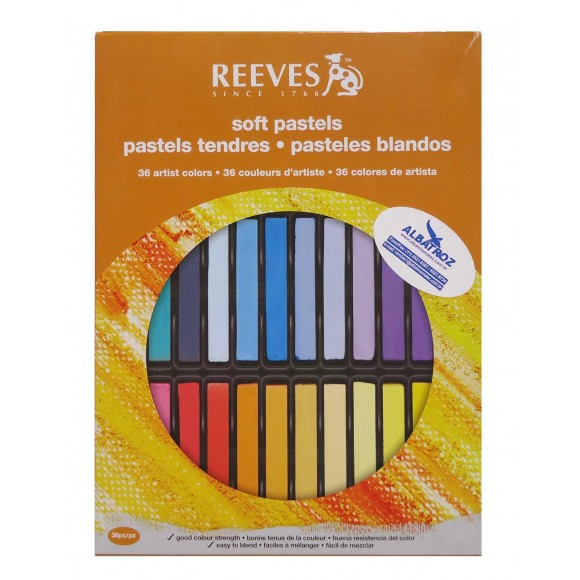 GIZ PASTEL SECO 36 CORES - REEVES
