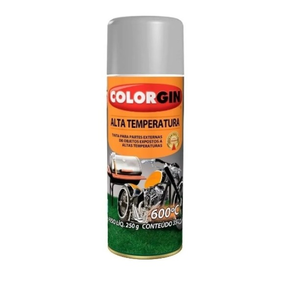 TINTA SPRAY ALTA TEMPERATURA ALUMÍNIO 300ML - COLORGIN