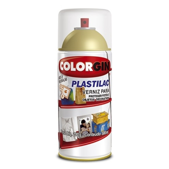 VERNIZ SPRAY PLASTILAC BRILHANTE 300ML - COLORGIN