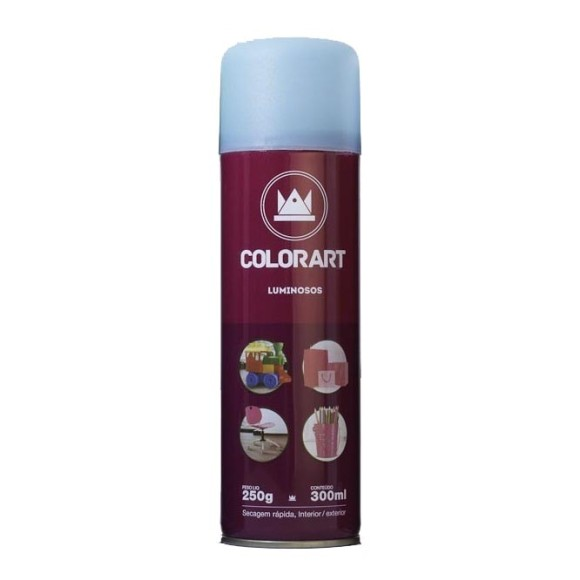 TINTA SPRAY AZUL LUMINOSA 300ML - COLORART