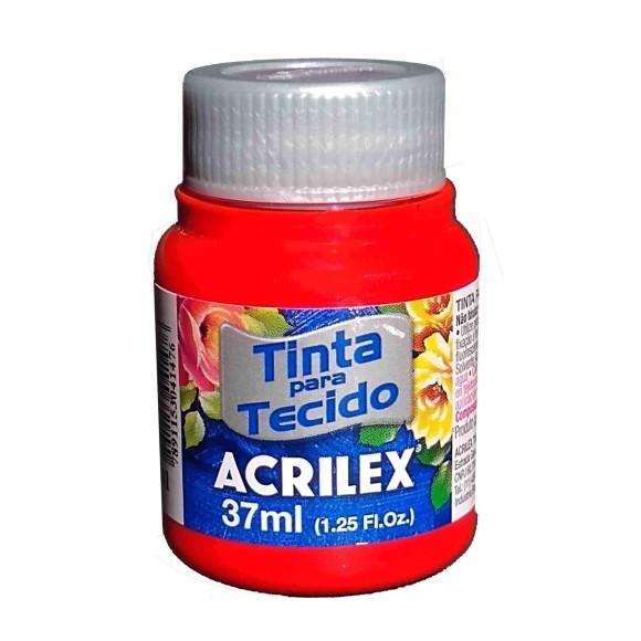 TINTA TECIDO FOSCA 37ML VERMELHO VIVO (541) - ACRILEX