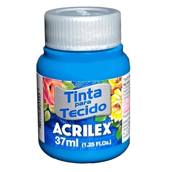 TINTA TECIDO FOSCA 37ML AZUL TURQUESA (501) - ACRILEX