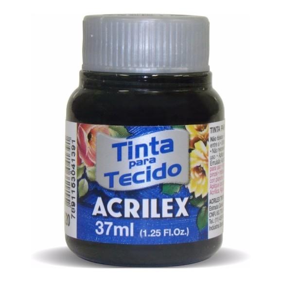 TINTA TECIDO FOSCA 37ML PRETO (520) - ACRILEX