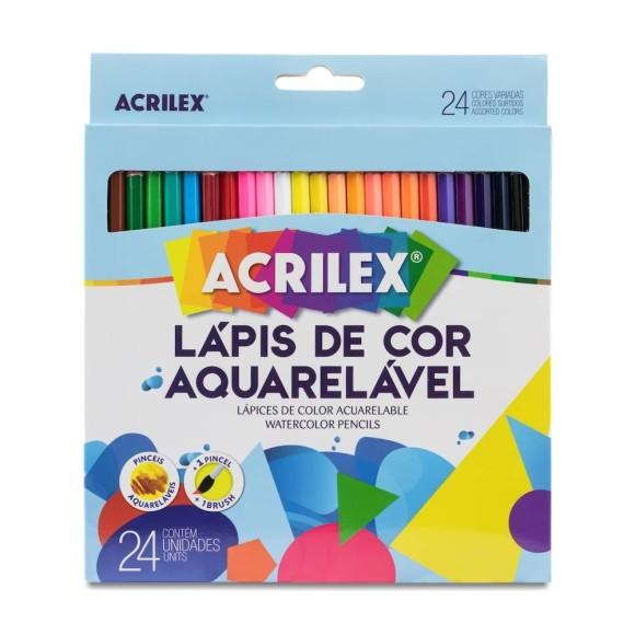 LÁPIS DE COR 24 CORES AQUARELÁVEL - ACRILEX