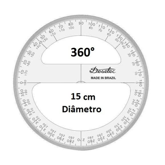TRANSFERIDOR ACRÍLICO 360° 15CM - TRIDENT DESETEC