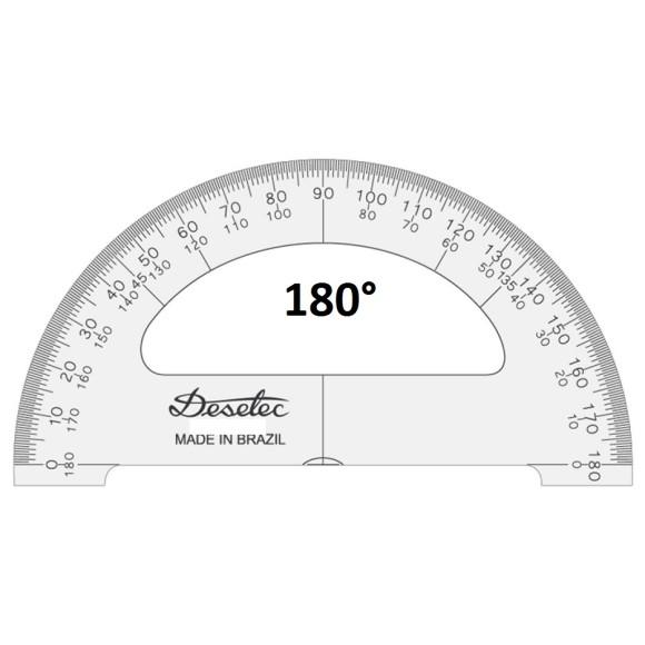 TRANSFERIDOR ACRÍLICO 180° 10CM - TRIDENT DESETEC
