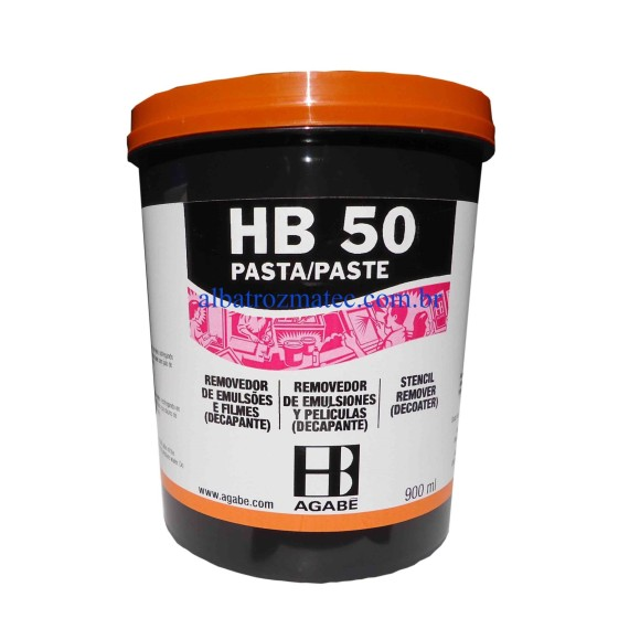 REMOVEDOR DE EMULSÃO HB-50 - PASTA 900ML -  AGABÊ