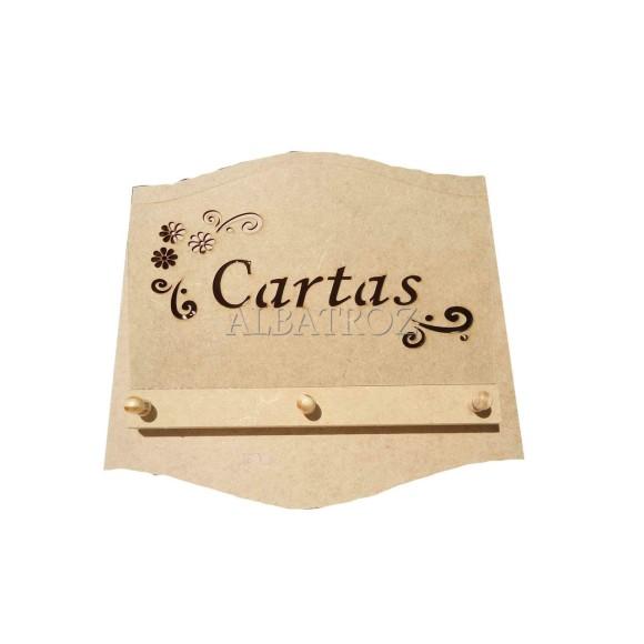 PORTA CARTAS/CHAVES VAZADO - MDF